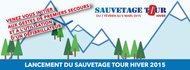 Coup d'envoi du « Sauvetage Tour Hiver 2015 »