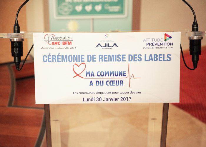 Retour en images sur la 3ème cérémonie de remise de Label «Ma Commune a du Cœur» – 30 janvier 2017