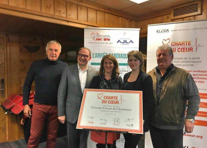 Le 2 mars 2017 à Méribel, le domaine «Choeur de Chaudanne» a signé la Charte du Cœur